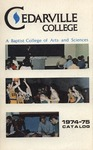 1974-1975 Academic Catalog by Cedarville University
