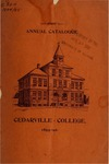 1895-1896 Academic Catalog by Cedarville College