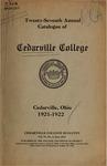 1921-1922 Academic Catalog