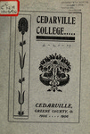 1905-1906 Academic Catalog by Cedarville College