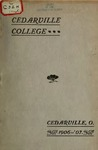 1906-1907 Academic Catalog by Cedarville College