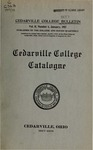 1917-1918 Academic Catalog by Cedarville College