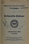 1919-1920 Academic Catalog by Cedarville College