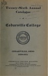 1920-1921 Academic Catalog by Cedarville College
