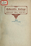 1910-1911 Academic Catalog by Cedarville College