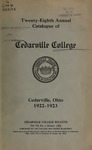 1922-1923 Academic Catalog by Cedarville College