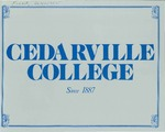 1987-1988 Academic Catalog by Cedarville College
