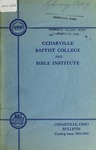 1953-1955 Academic Catalog by Cedarville College