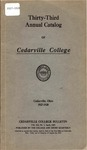 1927-1928 Academic Catalog by Cedarville College