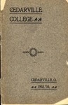 1902-1903 Academic Catalog by Cedarville College
