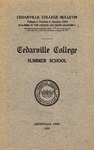 1916 Summer Catalog by Cedarville College