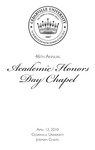 46th Annual Academic Honors Day Chapel
