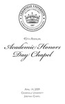 45th Annual Academic Honors Day Chapel