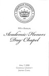44th Annual Academic Honors Day Chapel