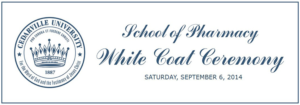 2014 White Coat Ceremony Invitation