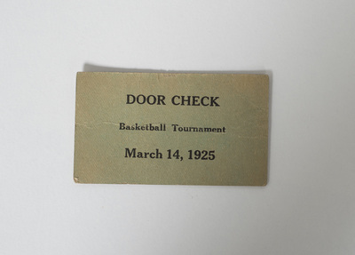 Basketball Tournament Door Check Ticket