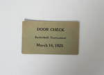 Basketball Tournament Door Check Ticket by Cedarville College
