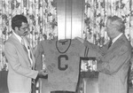 Presentation of Sweater by Dallas Marshall by Cedarville College