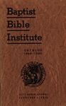 1949-1950 Baptist Bible Institute Academic Catalog by Baptist Bible Institute of Cleveland