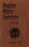 1949-1950 Baptist Bible Institute Academic Catalog