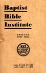 1950-1951 Baptist Bible Institute Academic Catalog
