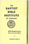 1946-1947 Baptist Bible Institute Academic Catalog by Baptist Bible Institute of Cleveland