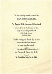 1945 Commencement Invitation by Baptist Bible Institute of Cleveland