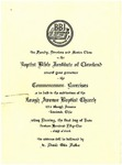 1951 Commencement Invitation by Baptist Bible Institute of Cleveland