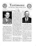 Testimony, April 1954