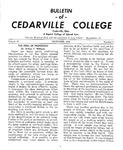 Bulletin of Cedarville College, December 1955