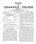 Bulletin of Cedarville College, March 1956