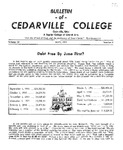 Bulletin of Cedarville College, May 1956