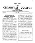 Bulletin of Cedarville College, June 1956