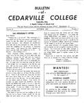 Bulletin of Cedarville College, October 1956