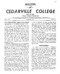 Bulletin of Cedarville College, January 1957