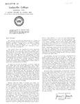 Bulletin of Cedarville College, September 1960