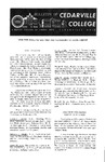 Bulletin of Cedarville College, September 1961