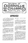 Bulletin of Cedarville College, June 1963
