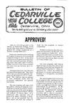 Bulletin of Cedarville College, June 1963