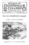 Bulletin of Cedarville College, November 1963