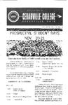 Bulletin of Cedarville College, October 1964
