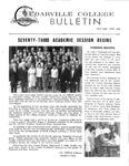 Cedarville College Bulletin, October/November 1966