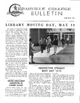 Cedarville College Bulletin, April/May 1967