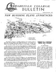 Cedarville College Bulletin, October/November 1969