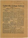 Cedarville College Bulletin, October 1927