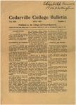 Cedarville College Bulletin, July 1928