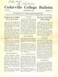 Cedarville College Bulletin, October 1930
