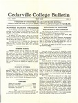 Cedarville College Bulletin, May 1933