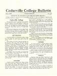 Cedarville College Bulletin, January-February 1934