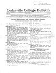 Cedarville College Bulletin, May-June 1934